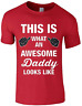 Father Day Mens T Shirt This Is What An Awesome Dad Looks Like Gift Present Tee