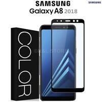 VETRO TEMPERATO PELLICOLA 3D per Samsung Galaxy A8 2018 COPERTURA TOTALE CURVO