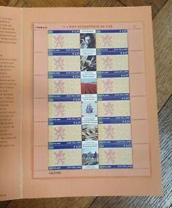 2002 NETHERLANDS NEDERLAND SHEET IN BOOKLET PROVINCE ZUID HOLLAND VF MNH