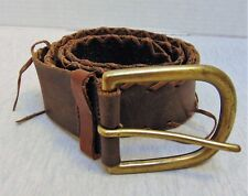 Vintage Genuine Leather Women's Belt Brown Size XL