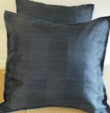 £12.00 FOR A PAIR OF 24 INCH EXTRA LARGE GIANT CUSHIONS DARK BLUE STRIPE DESIGN