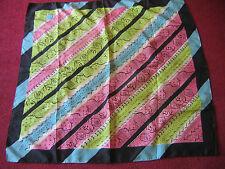 """TRUE VTG ATOMIC 33x33"""" MID CENTURY PINK/Baby Blue/Green Modern scarf"""