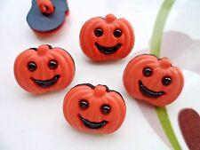 20pcs Novelty Theme Dress Button Pumpkin Halloween Fruit Craft Cardmaking Orange