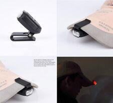 Clip-ON 3-LED Flashlight Hat Lamp Light Cap Light Outdoor Fishing Hiking Camping