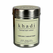 Khadi Herbal Nut Brown Henna Natural Hazel Hair Color Shine Hair  150 gms