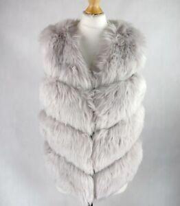 Womens NEW LOOK Faux fur Gilet Size S UK 8-10 Sleeveless Body warmer Pink Vest