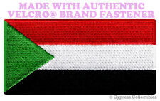 SUDAN FLAG PATCH AFRICAN EMBROIDERED SOUVENIR AFRICA w/ VELCRO® Brand Fastener