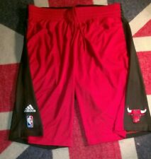 New listing Adidas Chicago Bulls Basketball Red Printed Shorts Size Large