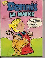 DENNIS LA MALICE POCHE N°57 AVRIL-MAI 1978