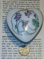 Blue Heart Shaped Limoges Porcelain Trinket Pill Box floral Vintage
