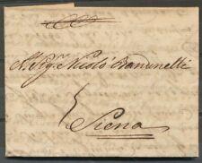 BRIEF AMSTERDAM - SIENNA(ITALIE)7 AUG 1738 MET GESCHREVEN PORTBEWERKING 5  ZH598