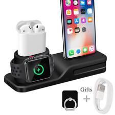 Wonsidary Apple Watch Airpods iPhone Ständer 3 in 1 Halter Ladestation Silikon