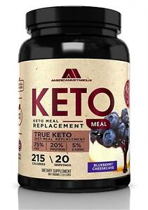 Keto Meal Replacement with Coconut Water, 20 Servings, 215 Calories, 75%...