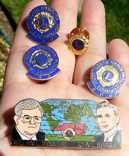 5 LIONS CLUB INTERNATIONAL NC Pins 50~100~500, Past Presidents 2002 Lot Lapel
