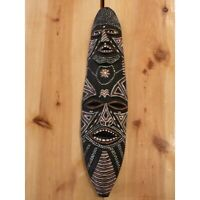 Vintage African Wood Mask Two Face