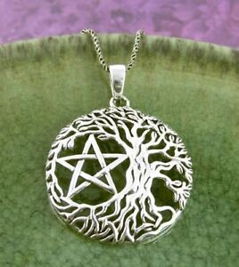 Tree of Life Pentacle Pendant ONLY - 925 Silver Pentagram Wiccan Wicca Pagan 370
