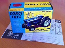Corgi 67 Ford 5000 Super Major Tractor Empty Repro Box & Instructions Only