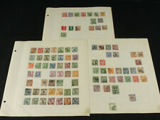 Old Time China Stamp Collection Lot on Pages w/Early Dragons, Junks, Reapers +