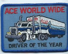 Ace World Wide agent for Atlas Van Lines driver of year patch 2-1/2 X 3-3/4 #651