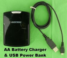 Dual Function Charger Power Bank Requires 4 AA Rechargeable Batteries Micro USB