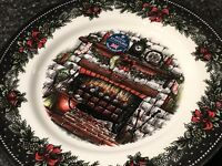 Royal Stafford Christmas Eve Fireplace With Stockings Rare Dinner Plate New