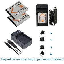 2x NP-BN1  Li-ion Battery For Sony DSC-W800 DSC-W810 DSC-W830 DSC-WX5 +Charger