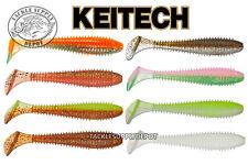 KEITECH Fat Swing Impact Saltwater Swimbait Paddletail Grub 3.8in 6pk - Pick