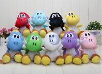 """Super Mario Bros 8"""" Yoshi Plush Flower Mushroom Toy Cute Teddy New & Sealed"""