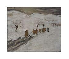 MILITARIA- La corvée de neige - datée 1941 -