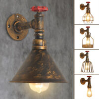 Retro Vintage Water Pipe Wall Light Lamp Home Bar Industrial Pendant 110-220