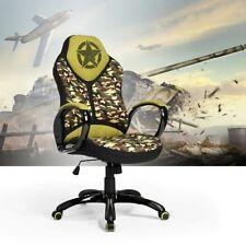 Fauteuil de bureau Chaise Gaming Racing Imprimé Fantaisie Camouflage Militaire