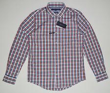 NWT TOMMY HILFIGER men's Casual Long Sleeve Shirt, M, Medium, Blue - Red, Plaids