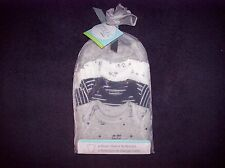 NEW Carter's Precious Firsts Set of 4 Preemie Baby Boy Short-Sleeve Bodysuits