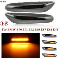 2x Dynamic LED Signal Lights Side Marker Smoked Turn For BMW E90 E91 E92 X1 X3