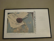 1992 Napa Valley Cabernet Sauvignon Reserve Framed Advertisement Robert Mondavi