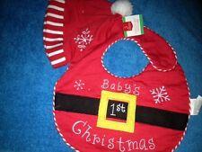 CHRISTMAS 2 PC BIB SET OF SANTA SUIT  NWT