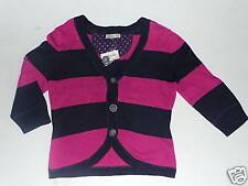 Aeropostale Cotton Sweater Girls Junior 3/4 Length Sleeve Stripe Pink Blue S