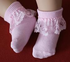 (Nr.0So02 -2) 8-10cm Zuckersüße kleine Söckchen BABYSOCKEN SOCKEN in rosa