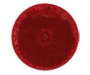 UNIVERSAL reflector RED round self adhesive 60mm diameter CAR CARAVAN LORRY