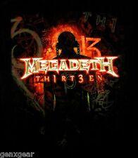 MEGADETH cd cvr TH1RT3EN Official SHIRT XXL 2X New thirteen 13
