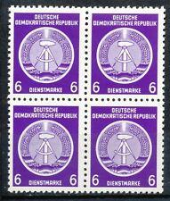 DDR dienst  2 postfris blok van 4