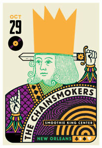 Scrojo Chainsmokers 10/29/2019 Poster Smoothie King Center New Orleans Louisiana
