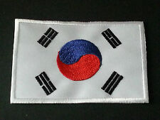 NATIONAL WORLD COUNTRY EMBROIDERED FLAG SEW/IRON ON PATCH:- SOUTH KOREA