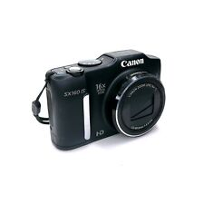 Canon PowerShot SX160 IS 16.0MP Black Digital Camera ONLY Tested & Working