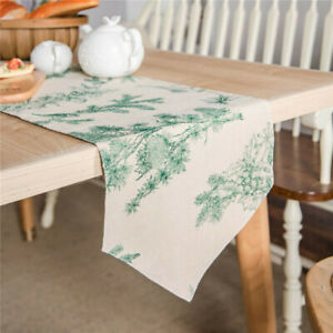 Home Decoration Cotton Linen Dining Table Runner Wedding Party Table Cover