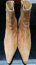 Dorothy Perkins Tan Textile Corduroy Ankle Boots - Size UK 7 / EU 40