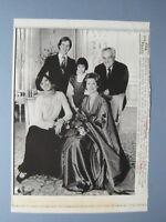 1982 Press Wire Photo Prince Rainier, Princess Grace Marriage Anniversary Photo
