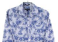 CZ135 Gant Hombre Cruzado Popelina Ajuste a Medida Camisa Informal Talla L