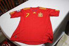 Camiseta Futbol Oficial ADIDAS SELECCION ESPAÑA TALLA M Nº 7 DAVID VILLA SHIRT