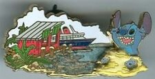 Disney Pin: DCL - Stitch's High Sea Adventure - Castaway Cay - Stitch with Ship